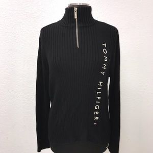 EUC Tommy Hilfiger Black Spellout Turtleneck
